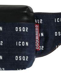 DSquared² Gürteltasche Aus Denim Mit Logodruck - Blau