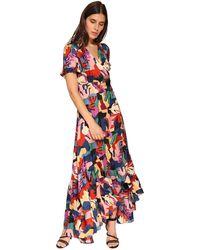 Ba&sh Missy Printed Viscose Long Dress - Mehrfarbig