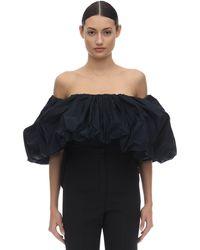 Givenchy Off-the-shoulder Taffeta Top - Blau