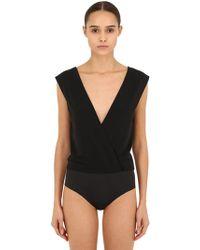 1d29dfec6e566 Wolford - Gentle Pearl Stretch Bodysuit - Lyst