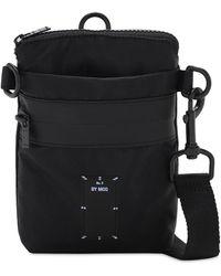 McQ Icon Zero Logo Nylon Crossbody Bag - Black