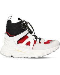 "Ganni 30mm Hohe Sneakers Aus Leder ""brooklyn"" - Mehrfarbig"