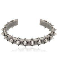 Northskull - Egun Spiked Silver Plated Bracelet - Lyst
