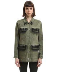 John Richmond - Washed Cotton Jacket - Lyst
