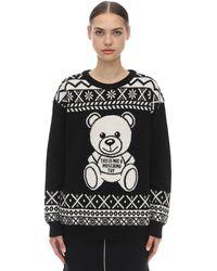 Moschino Alpaca Wool Knit Jumper - Black