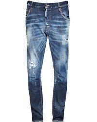 DSquared² - 16cm Skater Cotton Denim Jeans - Lyst