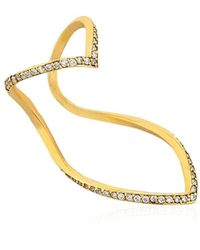 SeeMe - Diamonds Wrap Heart Ring - Lyst
