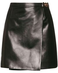 Versace - Кожаная Мини-юбка - Lyst