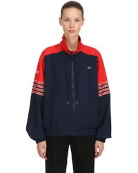 Lacoste - Zip-up Cotton Canvas Jacket - Lyst