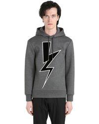 Neil Barrett Sweatshirt Aus Neopren Mit Kapuze - Grau