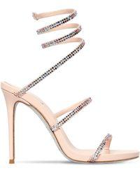 20e2167a6692 Lyst - Rene Caovilla Strass Swarovski Crystal Bow Sandals in Metallic