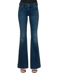 J Brand - Low Rise Love Story Flare Denim Jeans - Lyst