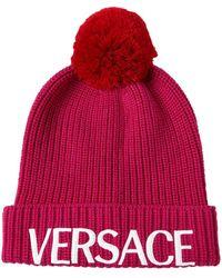 Versace ウールニットビーニー - ピンク