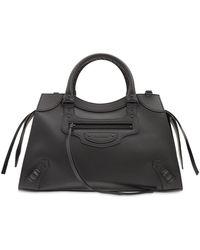 Balenciaga Сумка Из Кожи С Логотипом - Черный