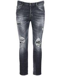 """DSquared² 16.5cm Jeans Aus Stretch-baumwolldenim """"skater"""" - Schwarz"""