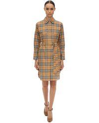 Burberry Платье Из Хлопка Поплин - Многоцветный