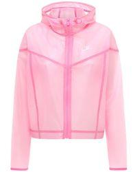 """Nike Transparente Jacke """"w Nsw Wr Jkt"""" - Pink"""