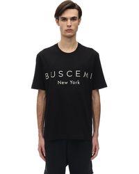 Buscemi コットンジャージーtシャツ - ブラック