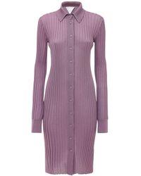 Bottega Veneta Платье Из Шелка - Пурпурный