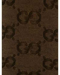 Gucci GG Patterned Tights - Brown