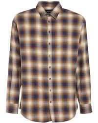 DSquared² Camicia In Cotone Check - Blu