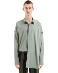 Damir Doma Oversize Cotton Poplin Shirt - Green