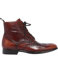 Rolando Sturlini Wing Tip Washed Leather Boots - Multicolour