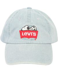 Levi's - Snoopy Embroidered Denim Baseball Hat - Lyst