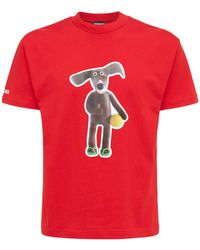 "Jacquemus T-shirt Aus Baumwolljersey ""le Toutou"" - Rot"