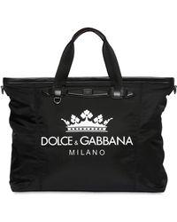 Dolce & Gabbana - Logo Printed Nylon Gym Back - Lyst