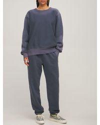 Les Tien グラデーションコットンスウェットシャツ - グレー