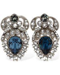 Dolce & Gabbana Pendientes De Clip Con Cristales - Multicolor