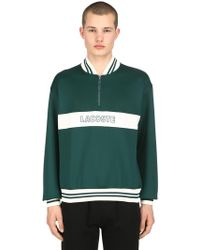 Lacoste - Lightweight Neoprene Sweatshirt - Lyst