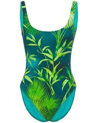 Versace Bañador De Lycra Estampado - Verde