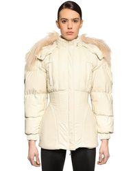 Marine Serre Puffed Sleeve Techno Puffer Jacket - White
