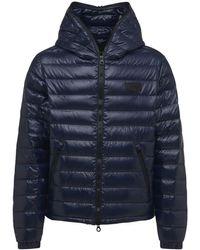 Duvetica Tolando Hooded Shiny Nylon Down Jacket - Blue