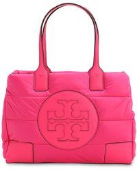 Tory Burch Ella Mini Quilted Nylon Tote Bag - Pink