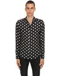 Garçons Infideles Polka Dot Silk Georgette Shirt - Black
