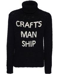 Dolce & Gabbana ウールニットタートルネックセーター - ブラック