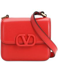Valentino Garavani Vsling Micro Leather Shoulder Bag - Rot