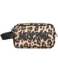 Moschino Leopard トイレタリーバッグ - ナチュラル