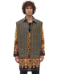 Gucci Micro Check Wool Blend Jacket - Multicolor