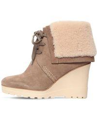See By Chloé 90mm Rachel Suede & Fur Ankle Boots - Multicolour