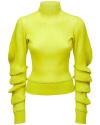 Bottega Veneta Sweater Aus Wollmischstrick Mit Rollkragen - Gelb