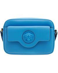 Versace Кожаная Сумка Medusa - Синий