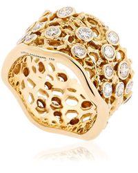 Aurelie Bidermann - Dentelle Gold Ring With Diamonds - Lyst