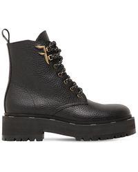 Fendi Ботинки Из Зернистой Кожи 50мм - Черный