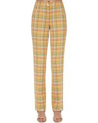 Rejina Pyo Pantalones De Algodón - Amarillo