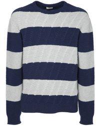 Etro ウールニットセーター - ブルー