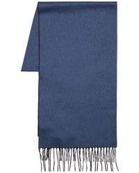 Piacenza Cashmere リバーシブル シルク&カシミア スカーフ - ブルー